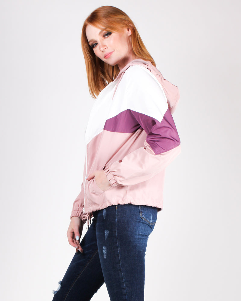 Crazy, Sexy, Cool Windbreaker Jacket (Dusty Pink)