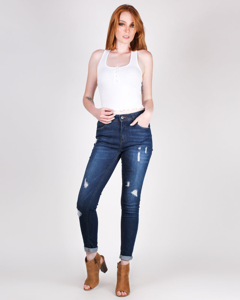 The Perfect Fit Denim Jeans (Dark)