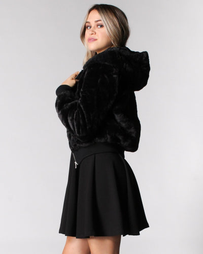 Fur Me To You Hooded Jacket Outerwear