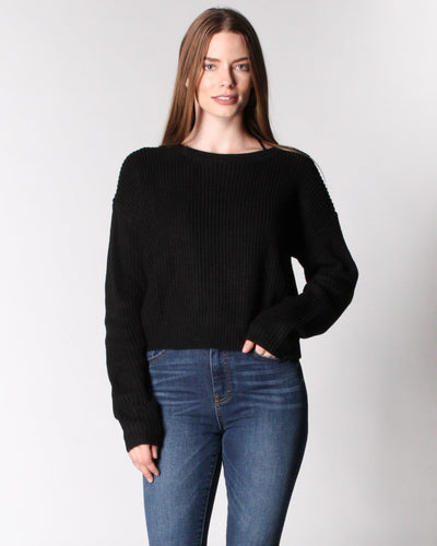 The Knit Tease Sweater S / Black Tops