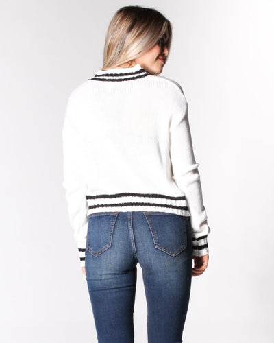 Where The Wild Stripes Are Knit Sweater Tops