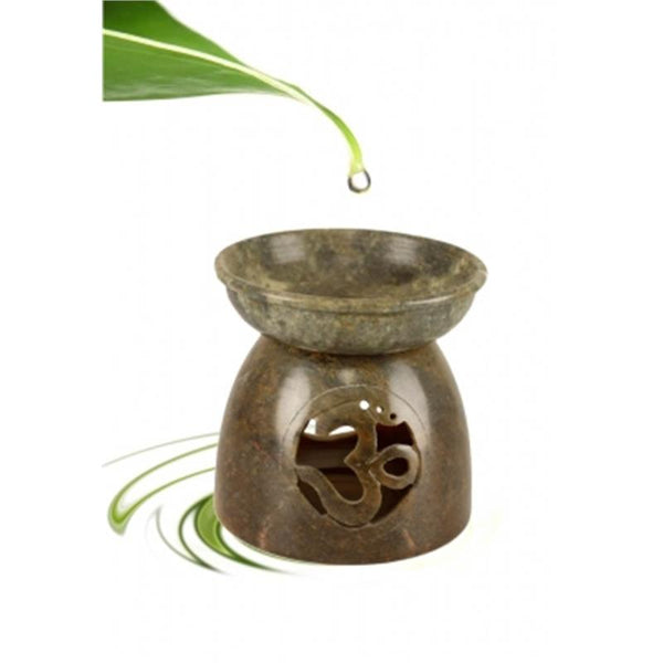 Aromatic lamp Ohm soapstone natural - By Surya Shop