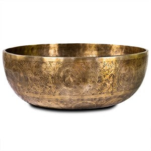 Feet singing bowl with decorations - By Surya Shop