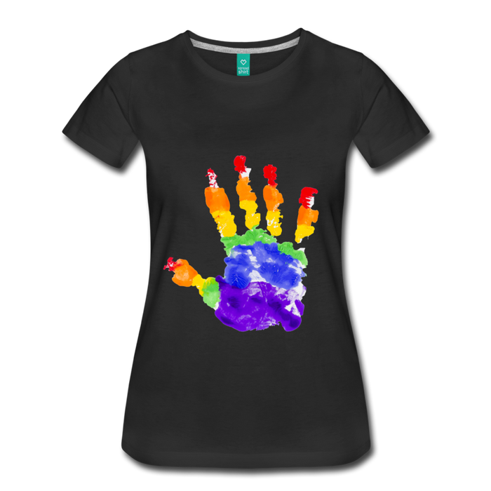 Women's Premium T-Shirt - Pride - black