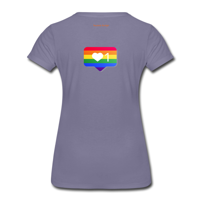 Women's Premium T-Shirt - Pride - washed violet