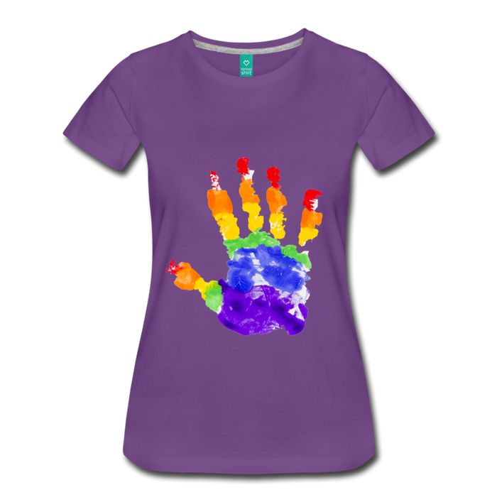 Women's Premium T-Shirt - Pride - purple
