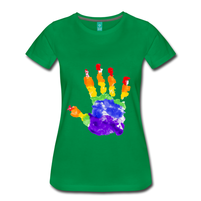 Women's Premium T-Shirt - Pride - kelly green