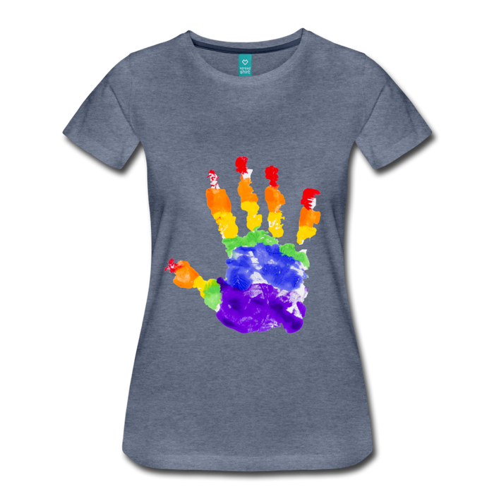 Women's Premium T-Shirt - Pride - heather blue