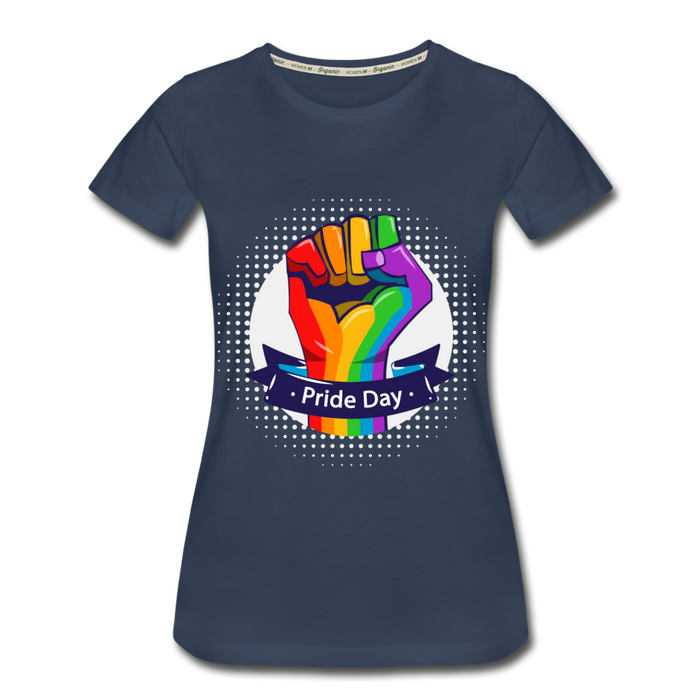 Women's Premium Organic T-Shirt - Pride Day - navy