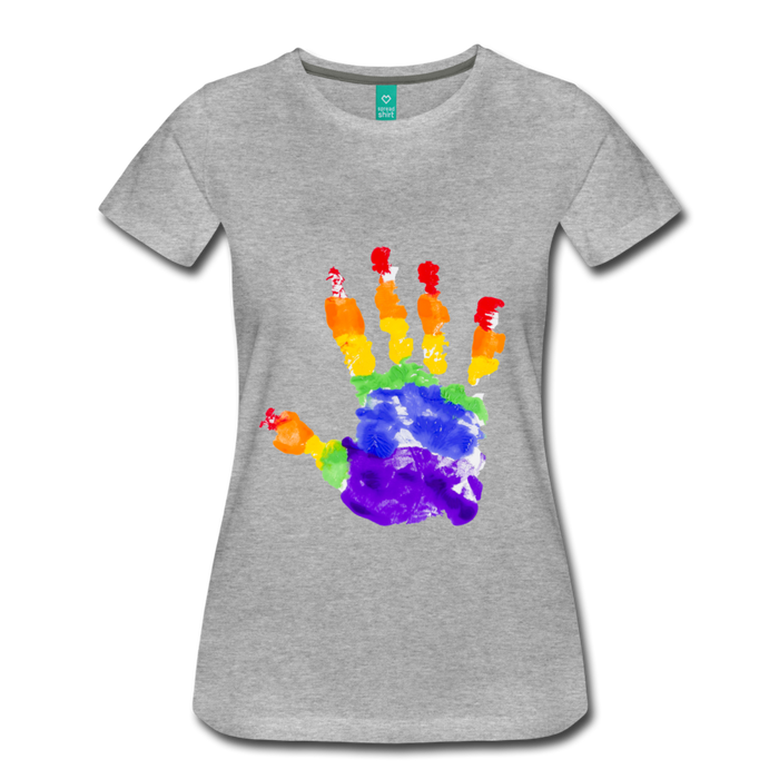 Women's Premium T-Shirt - Pride - heather gray