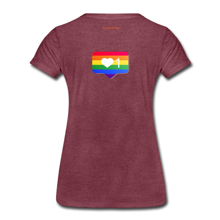 Women's Premium T-Shirt - Pride - heather burgundy