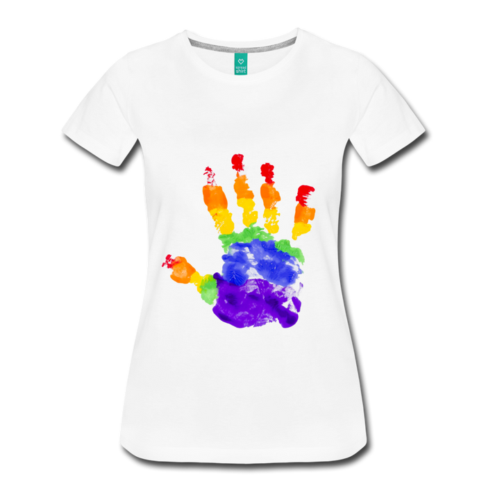 Women's Premium T-Shirt - Pride - white