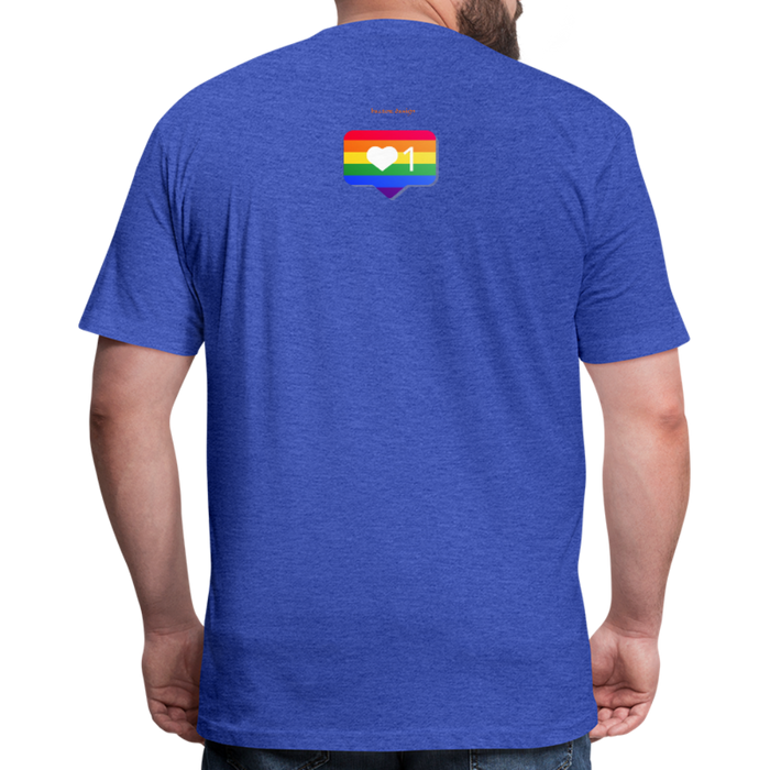 Fitted Cotton/Poly T-Shirt by Next Level - Love Wins Pride - heather royal
