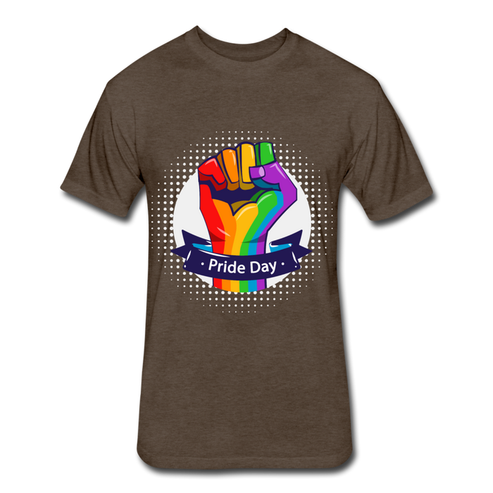 Fitted Cotton/Poly T-Shirt by Next Level - Pride Day - heather espresso