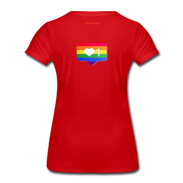 Women's Premium T-Shirt - Pride - red