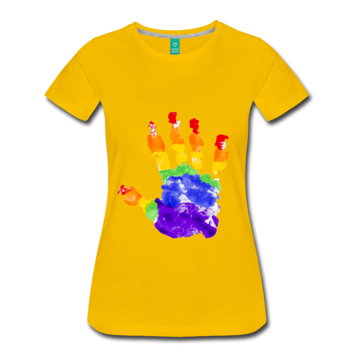 Women's Premium T-Shirt - Pride - sun yellow