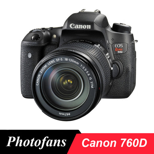 Canon  760D Rebel T6s DSLR Camera -24.2 MP -1080p Video -Vari-Angle Touchscreen -Built-In Wi-Fi -Top LCD Panel