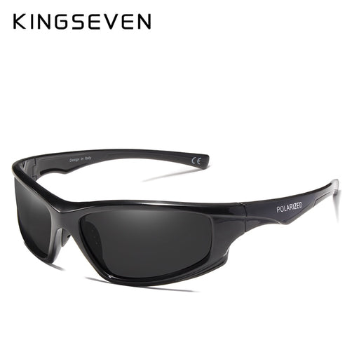KINGSEVEN 2019 Brand Design Polarized Sunglasses Men Driving Shades Male Sun Glasses For Men  Mirror Goggle UV400 Oculos
