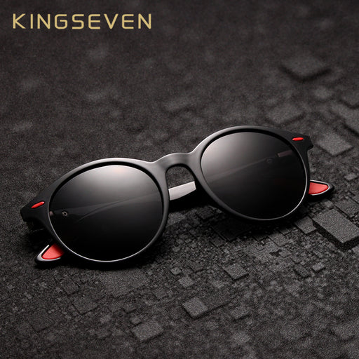 KINGSEVEN TR90 Vintage Men Sunglasses Polarized Oval Frame Sun glasses Women Men Unisex Night Vision Goggles Oculos De Sol
