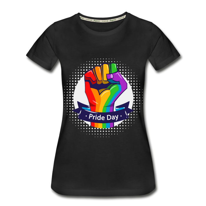 Women's Premium Organic T-Shirt - Pride Day - black