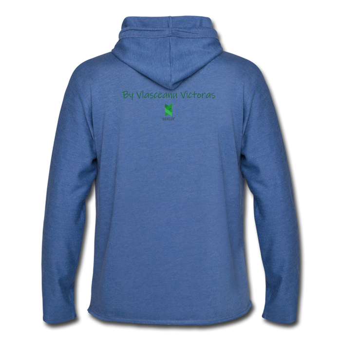 Hector Unisex Lightweight Terry Hoodie - heather Blue