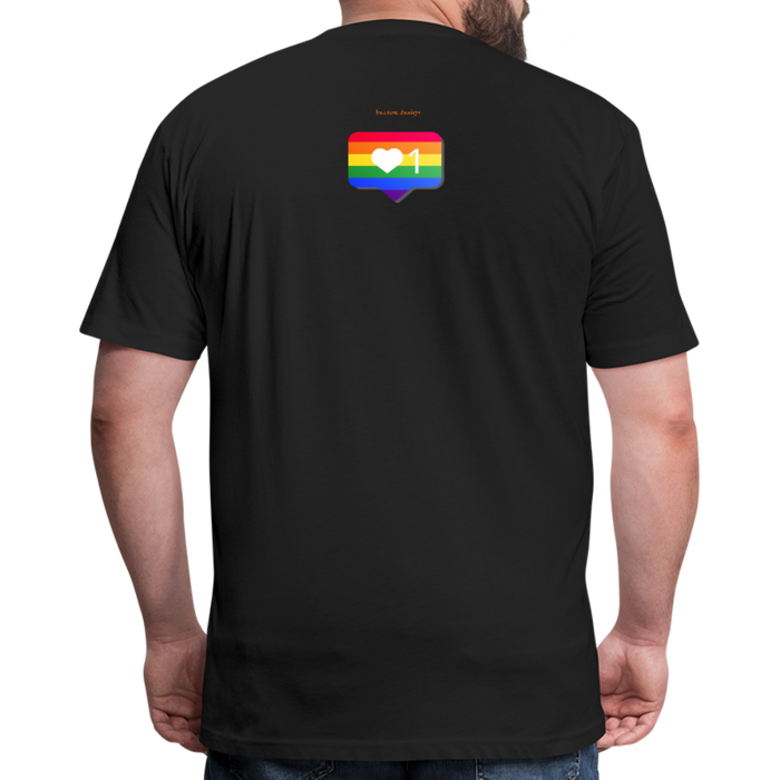 Fitted Cotton/Poly T-Shirt by Next Level - Love Wins Pride - black