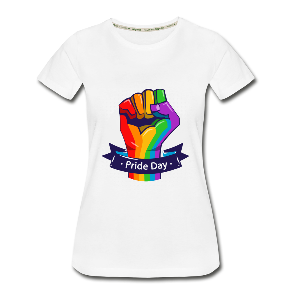 Women's Premium Organic T-Shirt - Pride Day - white