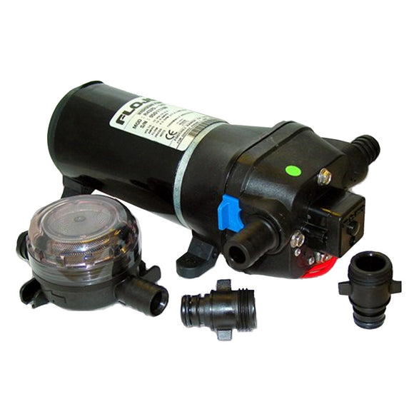 FloJet Heavy Duty Deck Wash Pump - 40psi-4.3GPM-12V w-Nozzle [04325143L]