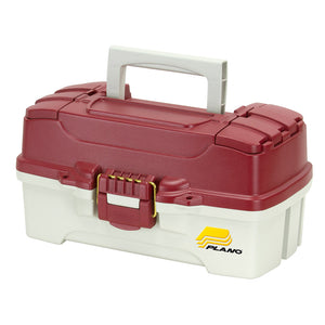 Plano 1-Tray Tackle Box w-Dual Top Access - Red Metallic-Off White [620106]