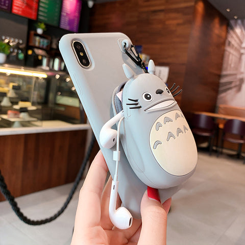 Totoro Coin Purse iPhone Case