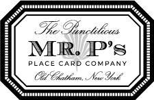 The Punctilious Mr. P's Place Card Co.