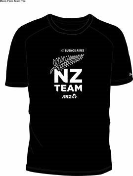 Mens Black NZ Team Tee Design