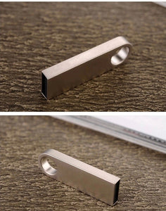Water Proof Gold/Silver USB Flash Drive 4GB to 64GB Keychain Style