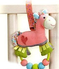 Pinkaboo Pony - Beaded Rattle