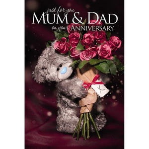 Mum and Dad Anniversary Card (3D Holographic)