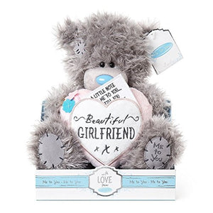 Beautiful Girlfriend Heart Cushion - 9'' Bear