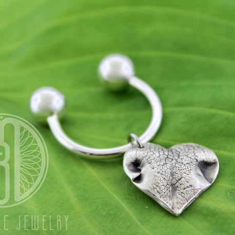 Doggie Nose (or Paw) Print Threaded Keychain