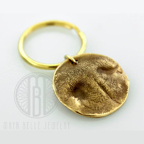 Dog Nose Print Keychain in Pure Bronze