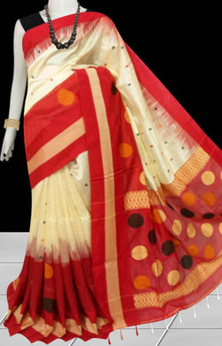 Beautiful Ikkat Work Cotton Silk Handloom Saree