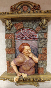 """Seamstress""  Window Sculpture"
