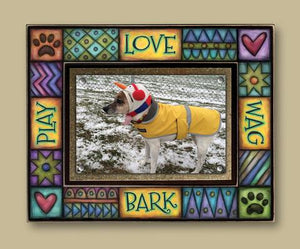 """Play Love Wag Bark"" Picture Frame"
