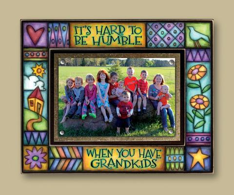 """Hard to be Humble.. Grand Kids"" Picture Frame"