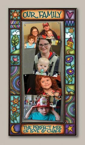 """Our Family....Love & Chaos"" Picture Frame"