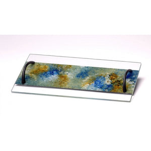 Glass Tray Ocean Colors