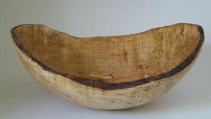 "11"" Oval Spalted Maple Bowl"