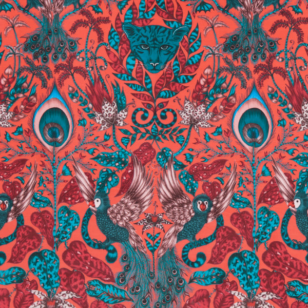 Emma J Shipley for Clarke & Clarke - Amazon Red Velvet Fabric