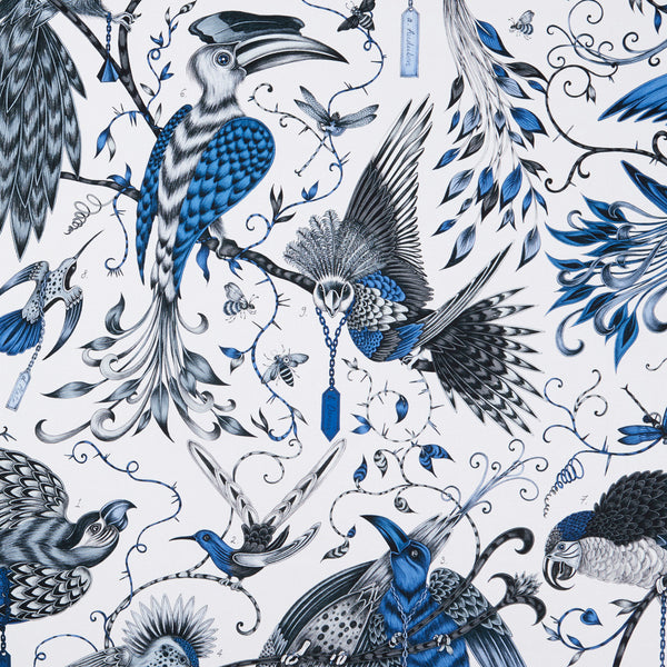 Emma J Shipley for Clarke & Clarke - Audubon Blue Fabric