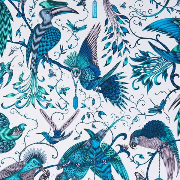 Emma J Shipley for Clarke & Clarke - Audubon Jungle Fabric