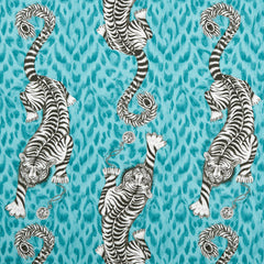 Emma J Shipley for Clarke & Clarke - Tigris Teal Fabric