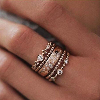 Vintage Bohemian Stackable Celebration Rings